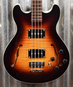 Warwick German Pro Series Star Bass Semi Hollow Flame Vintage Sunburst 4 String Bass & Bag #0919