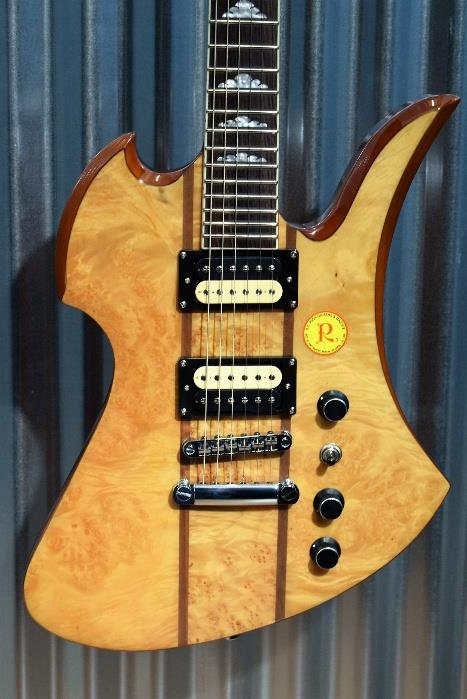 BC Rich MK9 Mockingbird Maple Burl Top Neck Through Guitar & B.C. Case #1212