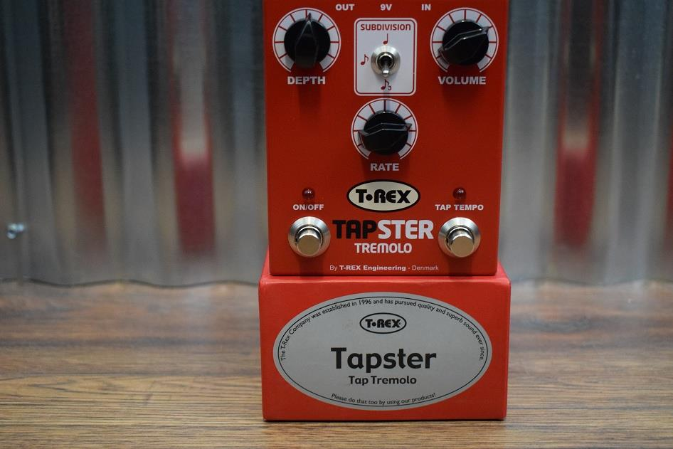 T-Rex Engineering Tapster Tap Tremolo Guitar Effect Pedal Demo #524