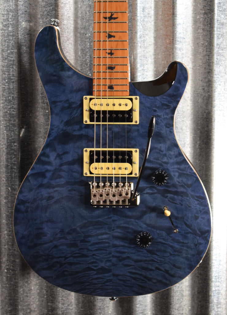 PRS Paul Reed Smith SE Custom 24 Roasted Maple Limited Whale Blue Guitar & Bag #0359