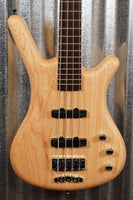 Warwick German Pro Series Corvette Standard Natural Ash 4 String Bass & Bag #7218