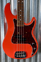 G&L USA Fullerton Deluxe LB100 Red 4 String Bass & Case LB-100 #2052