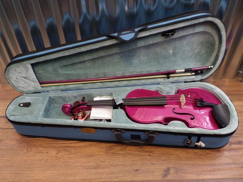 Stentor Harlequin Series 4/4 Violin Pink with Bow & Case #1024 *