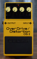 Boss OS-2 Overdrive Distortion Guitar Effects Pedal Used