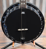Ortega Guitars Raven OBJ450-SBK 5 String Black Banjo & Bag #0037 B Stock