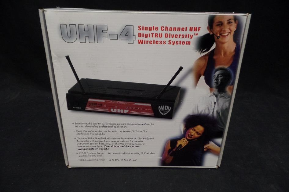 Nady UHF-4 High Band Professional Wireless Microphone System  For Parts Only