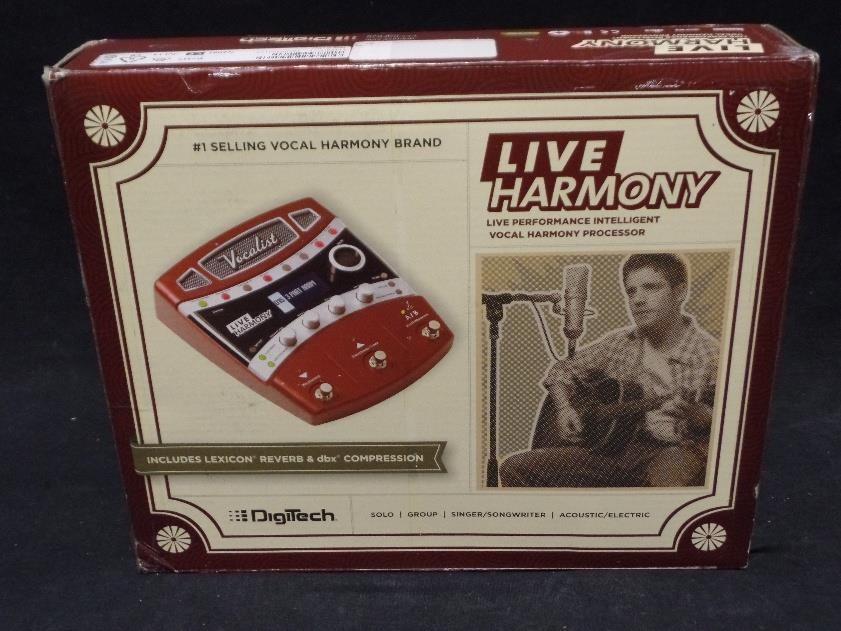 Digitech Live Harmony Effects Pedal For Vocals And Acoustic/Electric Guitar*