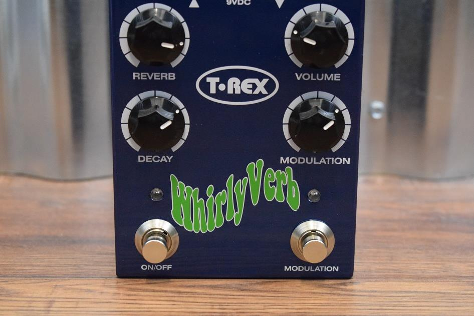T-Rex Engineering Whirlyverb Reverb Guitar Effect Pedal Whirly Verb Demo #065