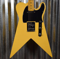 Indy Custom Guitars Flycaster TV Yellow & Case #032 Used
