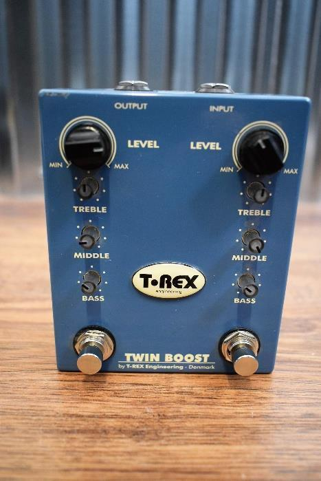 T-Rex Effect Twin Boost Dual Booster Guitar Effect Pedal #2409