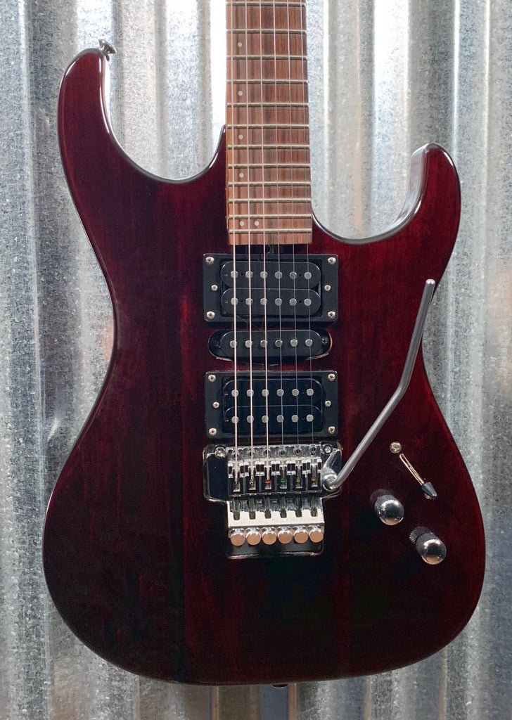 Washburn Pro X Series HSH Floyd Rose Trans Dark Cherry Guitar & Bag #1639 Used