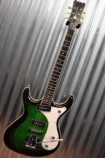 Eastwood Guitars Sidejack DLX Electric Guitar Green Burst Blemished #1631