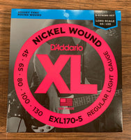 D'Addario EXL170-5 Regular Light Nickel Wound Long Scale Bass 5 Strings 45-130