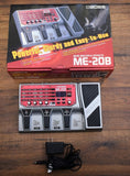 Boss ME-20B Bass Multi Effect Pedal & AC Power Adapter Used