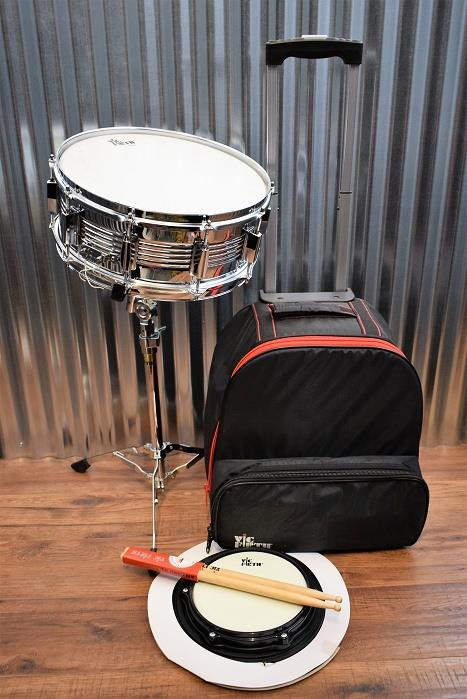 Vic Firth V6806 Travel Snare Kit with Stand, Practice Pads, Sticks and Bag