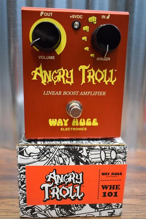 Dunlop Way Huge Electronics WHE101 Angry Troll Boost Guitar Effect Pedal
