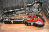 Ephiphone Wildkat Semi Hollow Bigsby Flame Top Wine Red Guitar & Case
