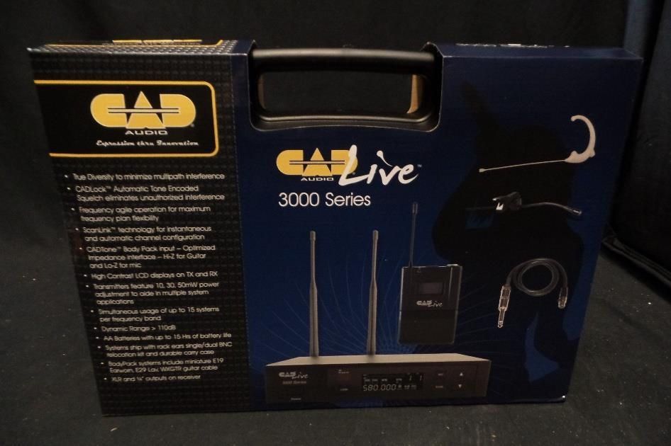 CAD Audio WX3010 UHF Wireless Guitar Headset Lav Microphone System E19 E29 WXGTR