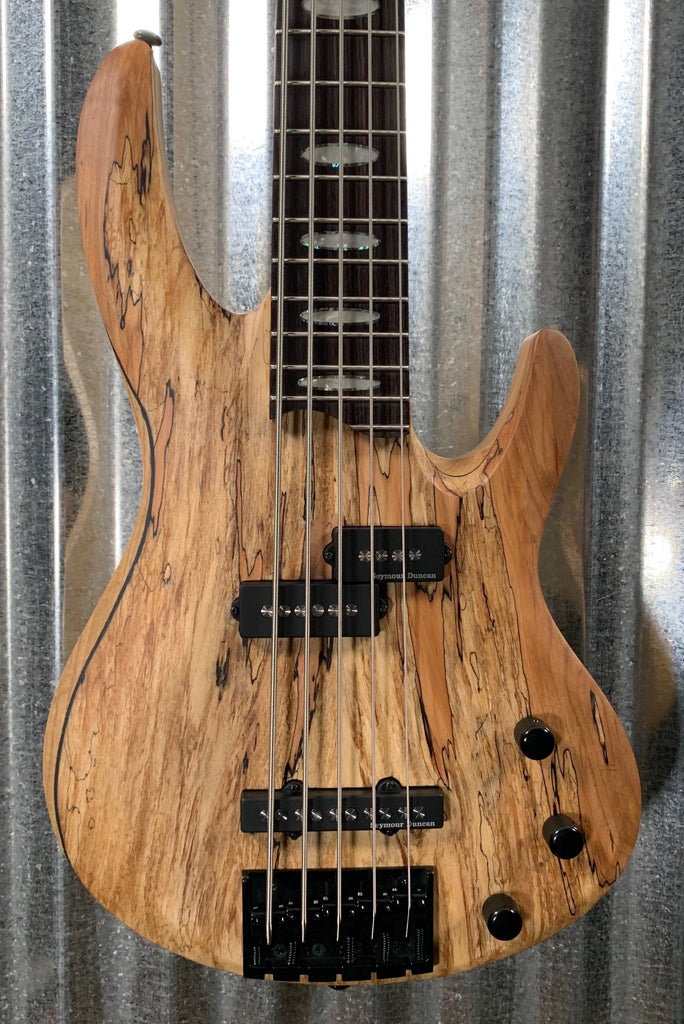 ESP LTD RB-1005 Spalted Maple Natural Satin Duncan 5 String Bass LRB1005SMNS #0880