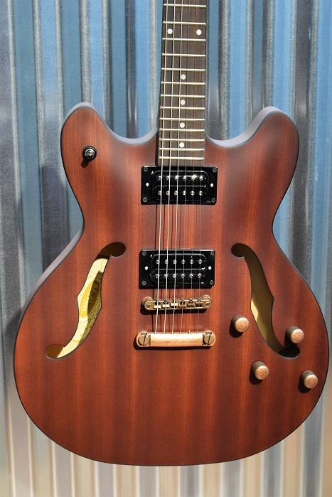 Washburn HB32DMK Distressed Matte Mahogony Semi Hollow Guitar #55