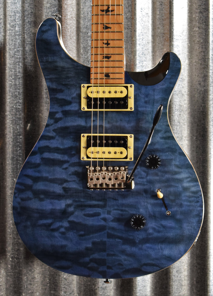 PRS Paul Reed Smith SE Custom 24 Roasted Maple Limited Whale Blue Guitar & Bag #0616