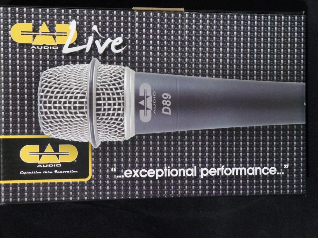 CAD Audio Live D89 Supercardioid Dynamic Instrument Microphone