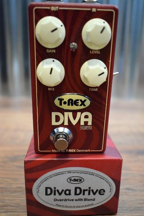 T-Rex Engineering Diva Drive Overdrive With Blend Guitar Effect Pedal Demo #319