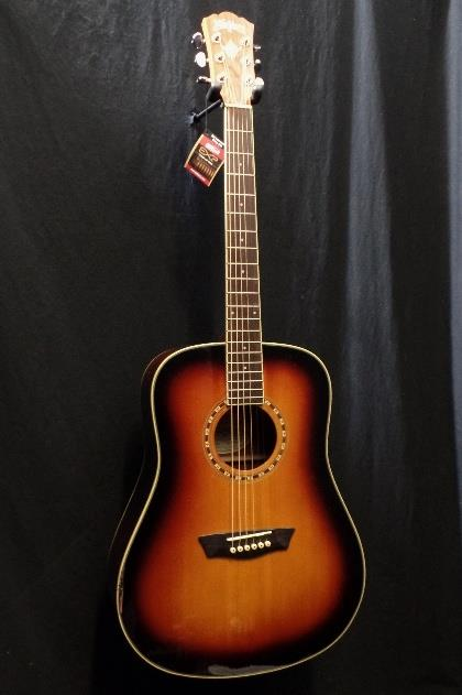 Washburn Harvest Series WD7SATB Acoustic Guitar & Gig  Bag Scratch & Dent #0691