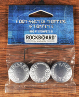 Warwick Rockboard StomPete Guitar Effect Pedal Footswitch Topper Silver Set of 3