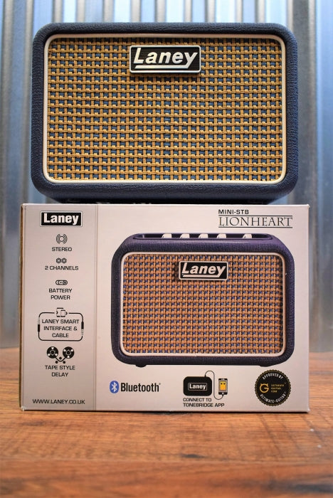 Laney Mini Stereo Bluetooth Lionheart Battery Powered Guitar Amplifier MINI-STB-LION Demo