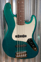 G&L USA Fullerton Custom JB5 Emerald Green 5 String Jazz Bass & Case JB-5 2017 #6145