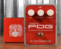 Electro-Harmonix Micro POG Polyphonic Octave Generator Guitar Bass Effects Pedal