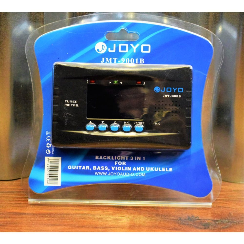 JOYO JMT-9001B Black Backlit 3 in 1 Digital Metronome & String Instrument Chromatic Tuner