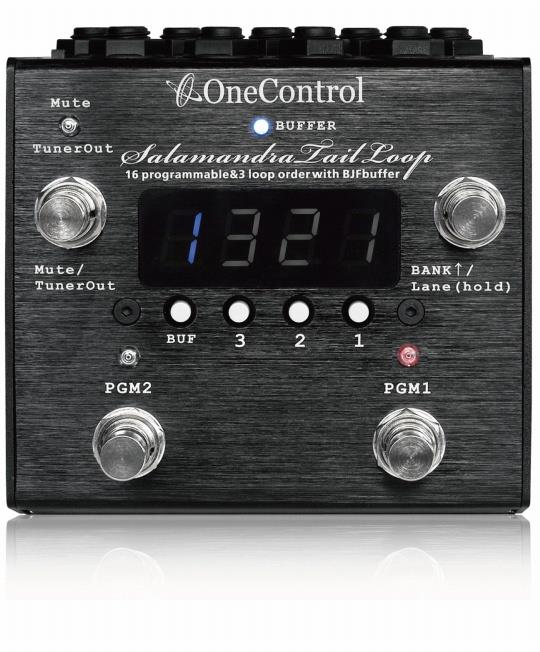 One Control Salamandra Tail Loop Programmable Effect Loop Switcher BJF Buffer Pedal