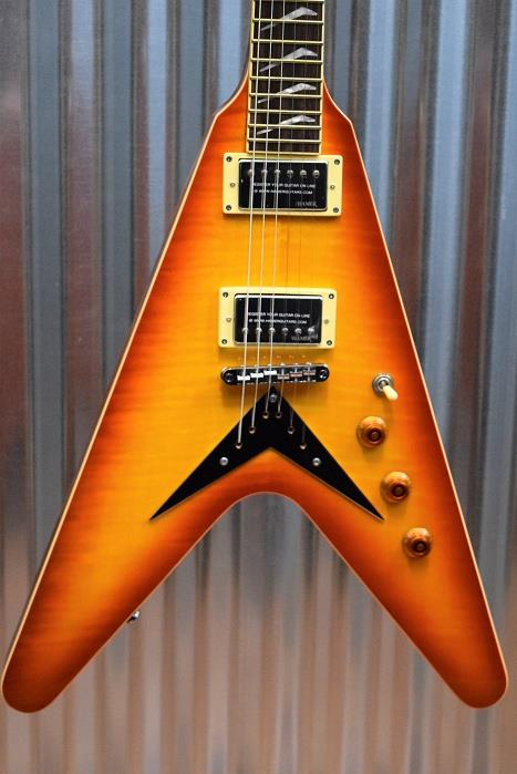 Hamer Vector Mahogany Flying V Cherry Sunburst Electric Guitar & Hard Case #314
