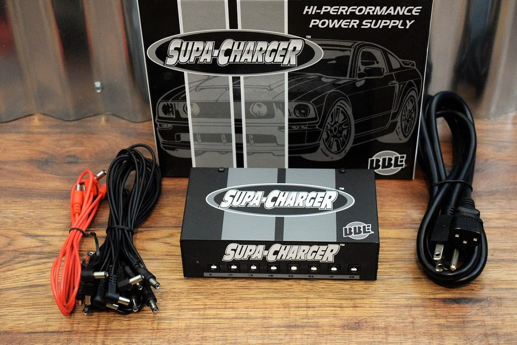 BBE Supa Charger High Performance Universal Effect Pedalboard Power Supply & Cables