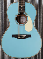PRS Paul Reed Smith SE P20E LTD ED Acoustic Electric Parlor Powder Blue Guitar & Bag #2327