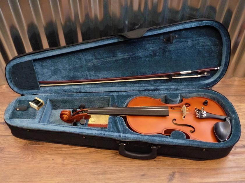 Barcus Berry Vibrato AE Violin Acoustic Electric in Brown with Case #1316