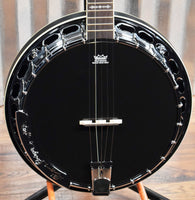 Ortega Guitars Raven OBJ650-SBK 5 String Black Banjo & Bag #0024 B Stock