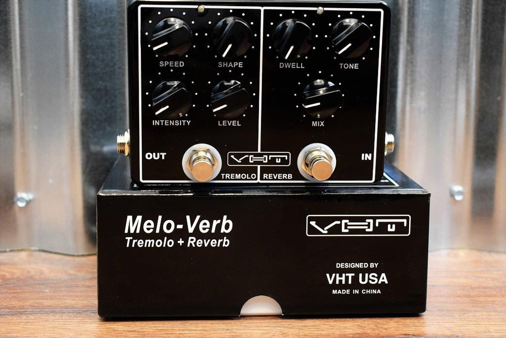 VHT Amplification AV-MV1 Melo-Verb Tremolo & Reverb Dual Guitar Effect Pedal