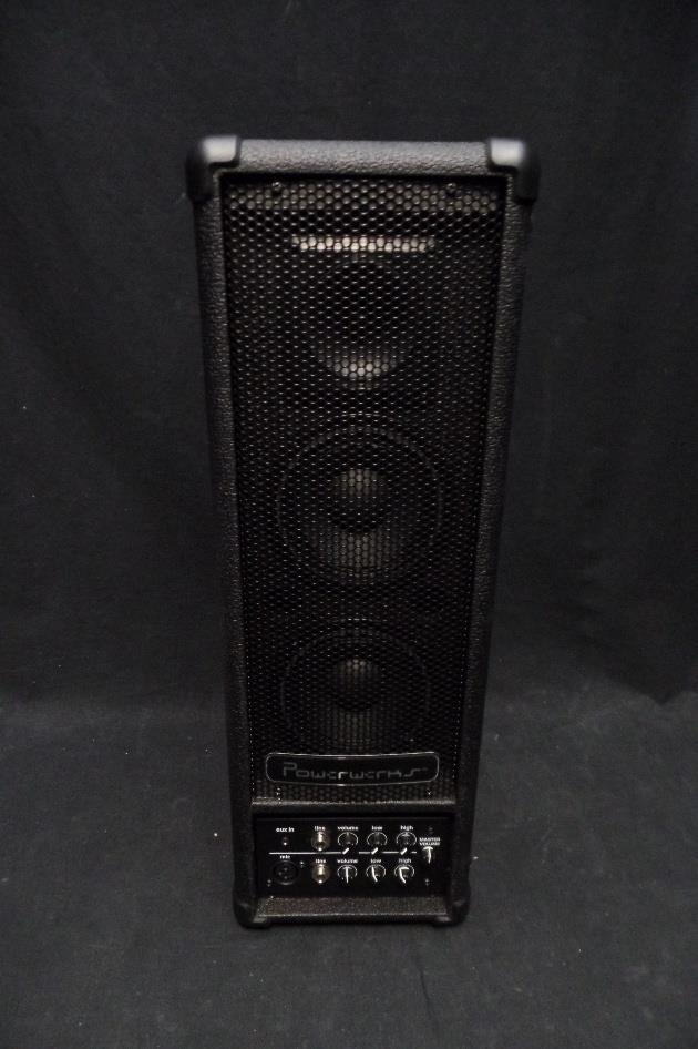 Powerwerks PW40BAT 2 Channel 40 Watt Battery Powered Portable PA System #0121 *