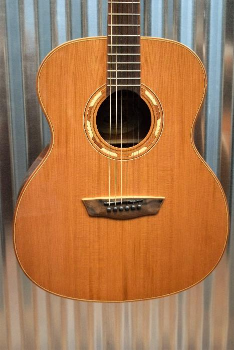 Natural Musical Instruments & Gear Washburn Wlg16s Grand Auditorium 6-string Acoustic Guitar