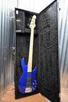 G&L USA M-2000 4 String Bass Midnight Blue Metallic & Case M2000 Demo #6313