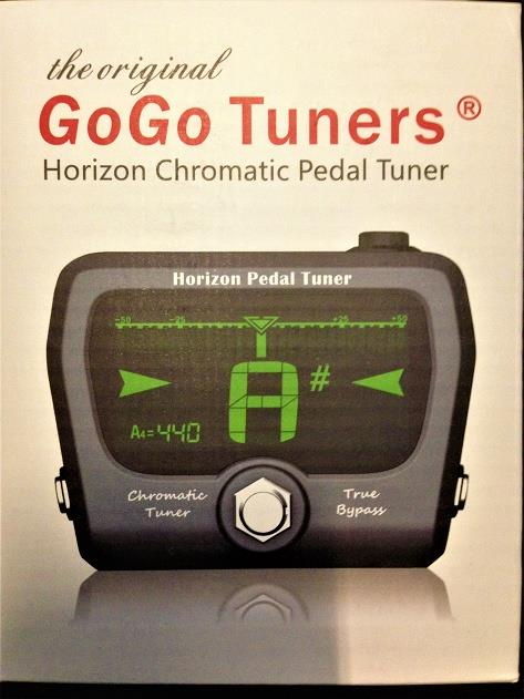 GOGO Tuners Horizon Big Screen Chromatic Guitar Tuner Pedal Black