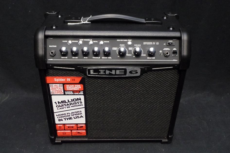 Line 6 Spider IV 15 Watt 1x8 Combo Electric Guitar Amplifier #0003*