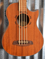 Ortega Lizzy Pro Acoustic Electric Lined Fretless Ukulele U Bass & Bag #7520