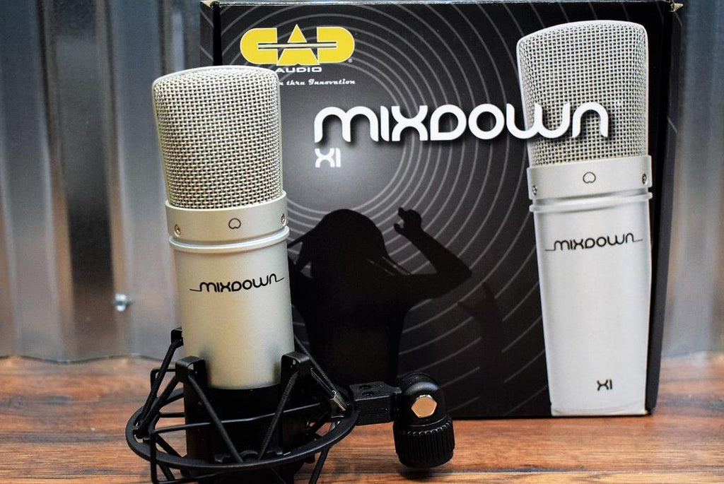 CAD Audio Mixdown X1 Studio Recording Vocal Condenser Microphone & Shockmount