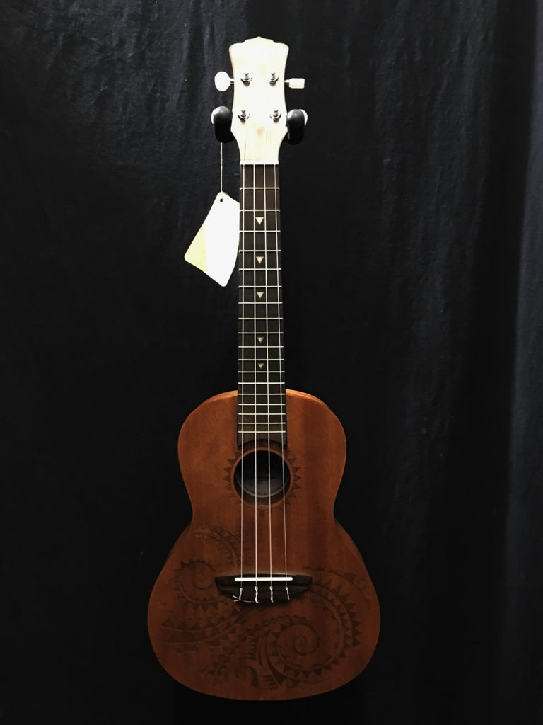 Luna Tattoo Concert TC MAH Ukulele & Gig Bag #8597 *