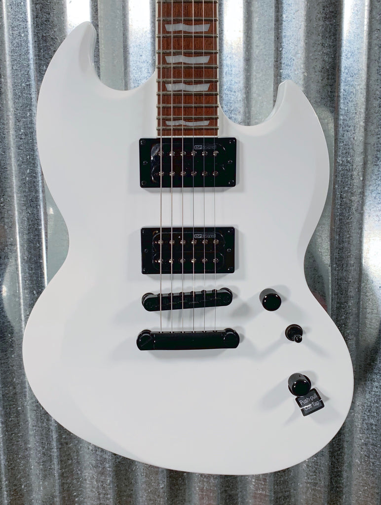 ESP LTD VIPER-256 Snow White Guitar & Bag LVIPER256 #0903 Demo