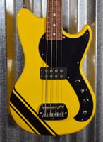 G&L USA Fullerton Limited Edition Fallout Bass Racing Yellow 4 String Short Scale & Gig Bag #2086